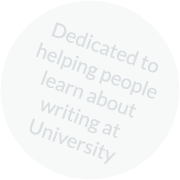 Dedicated to helping people learn about writing at University